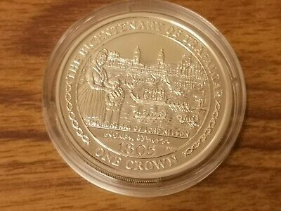 2005 Isle of Man Silver proof one crown coin - 28.3g - Lord Nelson - funeral