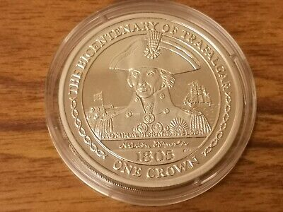 2005 Isle of Man Silver proof one crown coin - 28.3g - Admiral Lord Nelson