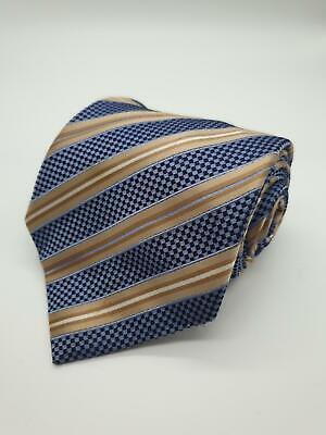 Black//White Knightsbridge Neckwear Mens Horizontal Stripe Silk Cravat