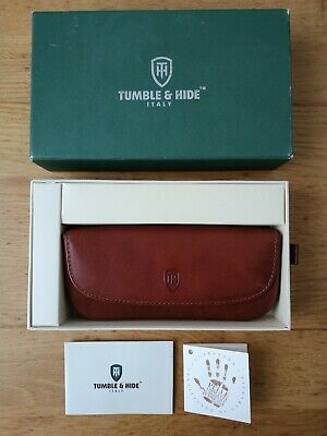 TUMBLE & HIDE ITALY GLASSES CASE real leather brown