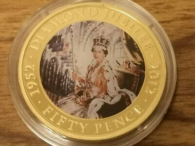 2011 Jersey 50p Fifty pence coin - Diamond Jubilee