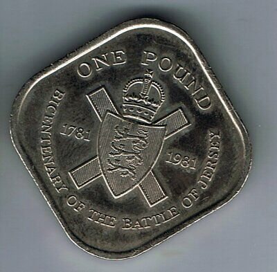 1981 Jersey £1 one pound coin : Battle
