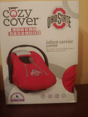 NIB Cozy Cover Lined Ohio State Infant Car Seat Carrier Cover Red