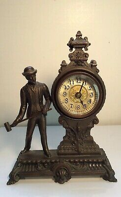 antique ansonia Sculpture clock (for Repair Or Parts)