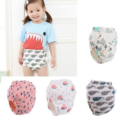 Baby Boys Girls Toddler Toilet Pee Pants Cartoon Nappy Underwear