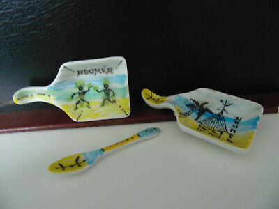 New Caledonia Noumea Condiment dishes & Spoon New Great For The Collector
