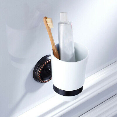 MagiDealMagiDeal Bathroom Tumbler Holders Wall Mount Toothbrush Holder with Cup