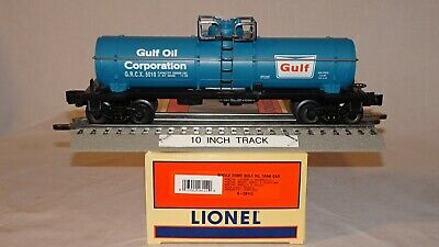 Lionel 26112 Gulf Oil Corp # 5010 Single Dome Tank Car O/027 Freight Car 2000