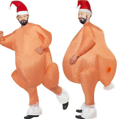 Adult Inflatable Turkey Funny Blow Up Thanksgiving Day Costume Outfit Fat Suit