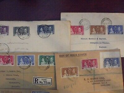 BRITISH COMMONWEALTH 1937 CORONATION 8 FDCs...8 SETS on 8 COVERS