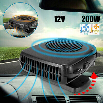 B Grey H3E# DC 12V Car Heater Heating Cooling Fan Front Windshield Defroster
