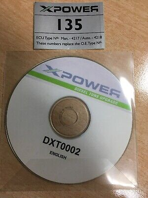 X Power Diesel Tune Upgrade Disk / CD - T4 / For T4 Only Incl. Sticker