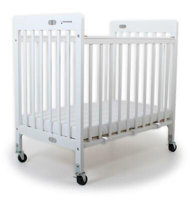 Baby Inc Stowaway Foldable Wooden Cot (White) Free Shipping!
