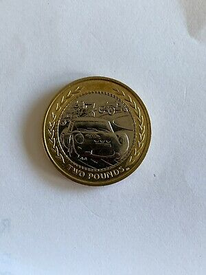 1998 Vintage Car Rally Iom Manx £2 Coin  Two Pound Fifty Isle Of Man