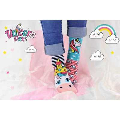United Oddsocks Girls Novelty Unicorn Daze Socks - Size 12-5.5- Perfect For Kids