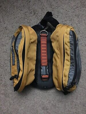 REI Adventure Dog Outdoor Hiking Camping Back Pack Saddle Bags small Yellow