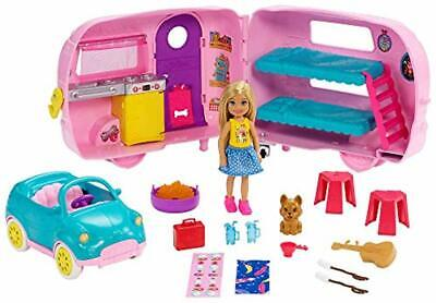 Barbie Club Chelsea Camper Cute Gift for Girls Ages 3+ Modern Color and Design
