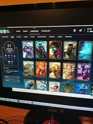 League Of Legends Account Level 30 Unranked 100 Champs 37 Skins SELTEN EUW LOL
