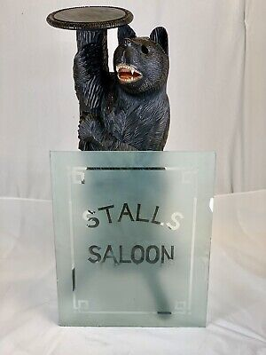 From A White Chapel Theatre - Saloon Stalls Glass Panel for Door / Unique / Rare
