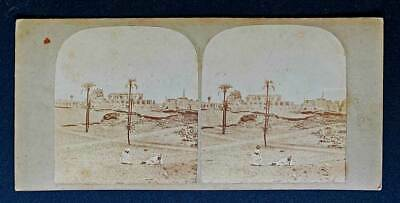 Stereoview Frith 173 Egypt & Nubia View Ruins of Karnak at Thebes Great 3D