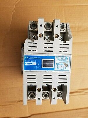 CUTLER HAMMER AE16ENO 25 AMP SIZE E CONTACTOR WITH C306DN3 AND C320KGS3