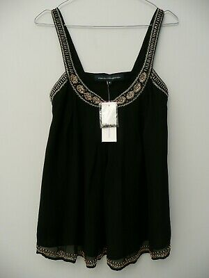 Bnwt Women/'s French Connection Strappy Top Blouse Xsmall UK8 RRP£45