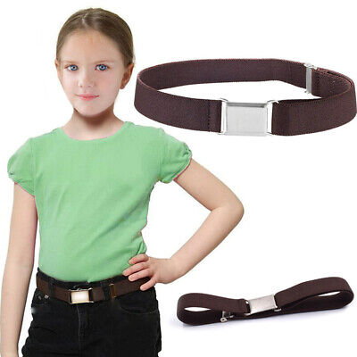 Kids Boys Girls Belt Casual Stretch With Buckle Wide Solid All Match Adjustable