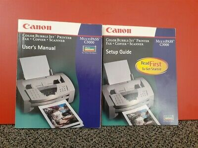 """""""Vintage""""  Canon MultiPASS C3000 User's Manual and Setup Guide"""