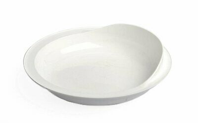 """Providence Spillproof Scoop Plate - 9"""" White"""