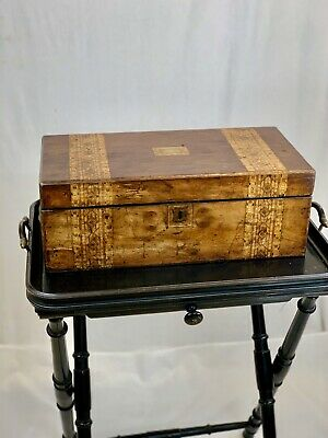 Antique Writing Box Secret Compartment.  C1850-1900 - Stunning Wood and Detail