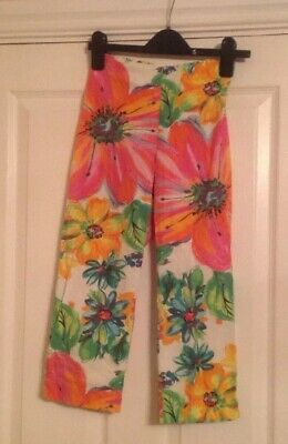 Girls Next Floral Short Trousers Aged 12 Years With Elasticated Waste