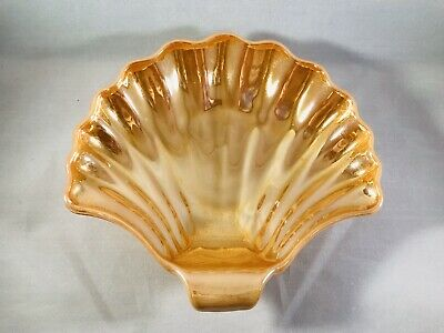 Anchor Hocking Fire King Peach Lustre Shell Candy Dish