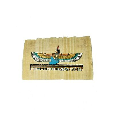20x30cm Hand-Painted Ancient Egyptian Goddess Isis Papyrus Painting