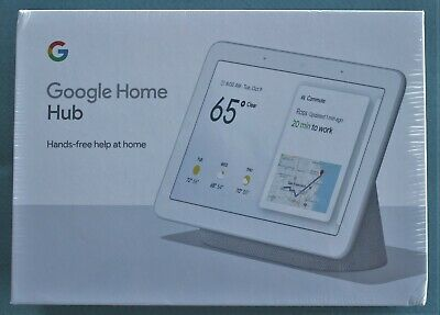 Google Home Hub with Google Assistant Chalk GA00516-US New Factory Sealed