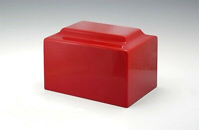 Red Cultured Marble Small Keepsake Cremation Urn For Human Ashes TSA Approved