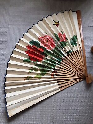 Large Vintage Fan , Peoples Republic Of China