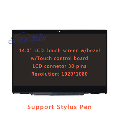 """14""""LCD Screen Touch Digitizer Replacement+ Bezel for HP X360 14-CD0111TU 4TG74PA"""