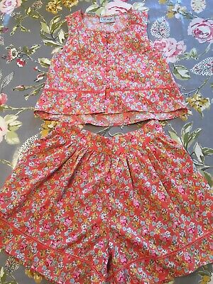 Girls Next Summer Floral Culotte Shorts And Matching Top Size 4 Years