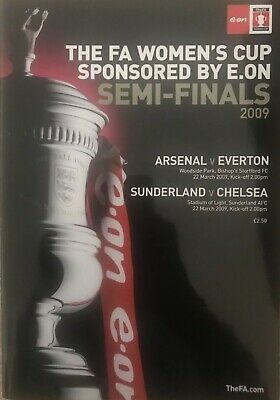Womens Fa Cup Semi Finals Arsenal V Everton & Sunderland V Chelsea 2009