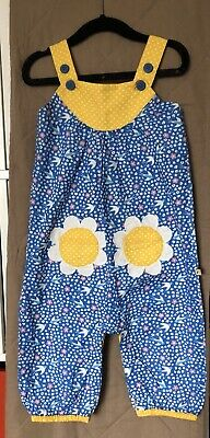 Gorgeous Floral Frugi Dungarees 6-12 months 68-76 cm