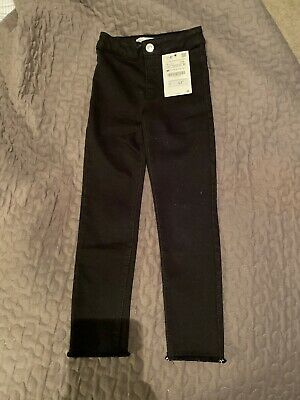 Zara Girls Black Denim Jeans Jeggings Trousers BNWT Age 5 Years