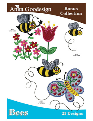 Anita Goodesign Machine Embroidery / Quilting Pattern - Bees