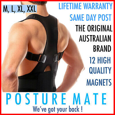 Adjustable Magnetic Back Posture Corrector Body Support Brace Clavicle Lumbar