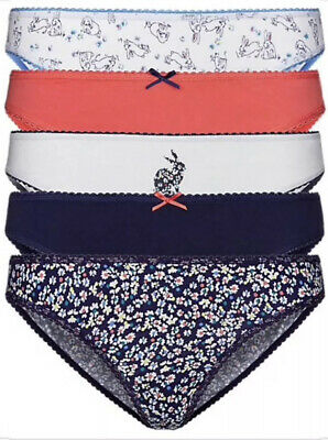 FaMouS Brand M*S Mixed Print Lilacs//Blues5PK Shorts//Knickers Sizes 6-20 *New**