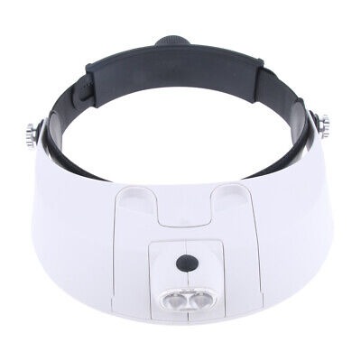 MG81001-G 2 LED Headband Illuminated Magnifier with 5 Replaceable Lens
