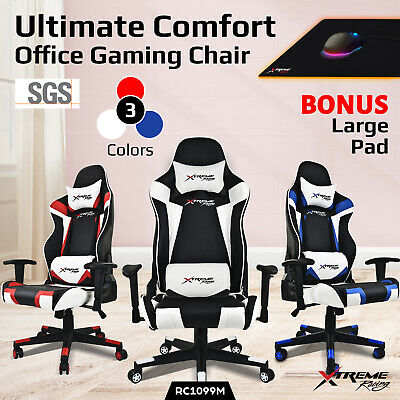 Xtreme Racing Gaming Office Chair PU Leather Computer Executive Recliner Seat M