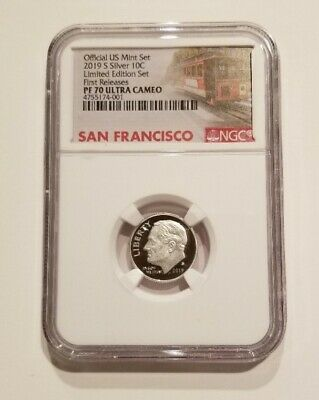 2019 S Proof Roosevelt Dime Limited Edition Set Ngc Pf70 Fr Ultra Cameo Trolley