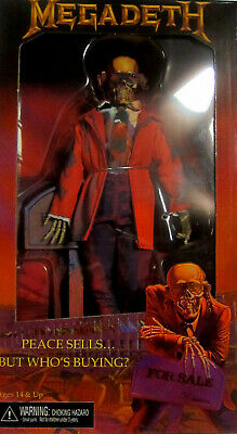 """MEGADETH Vic Rattlehead - Action Figure - 20 cm / 8"""" / NECA (Clothed Doll) Peace"""