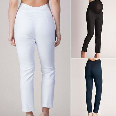 Women Slim Fit Skinny Pants High Waist Solild Casual Maternity Pregnant Trousers