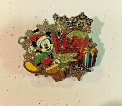 Mickey's Very Merry Christmas Party 2016 Glitter 3-D Disney Pin Limited Release